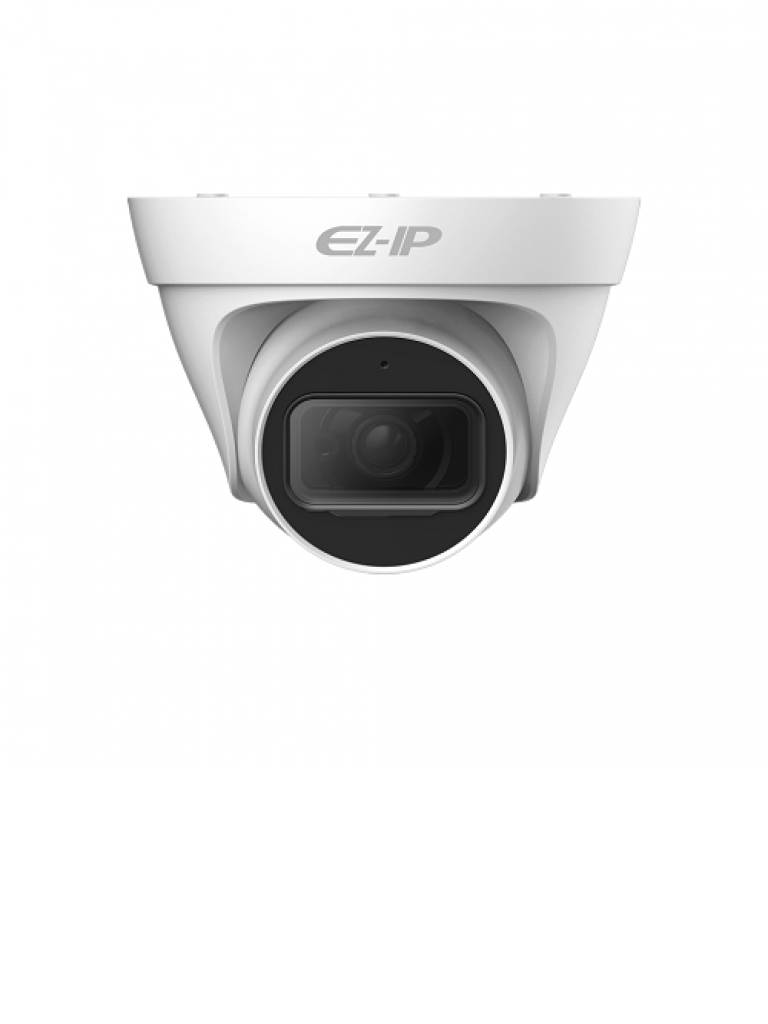DAHUA EZIP T1B20L28 - Camara IP domo 2  MP / H265+ / H265 / Lente 2.8 mm / Angulo de vision 115 grados / Luz ir 30 metros / IP67 /  PoE / DWDR / HLC / ONVIF