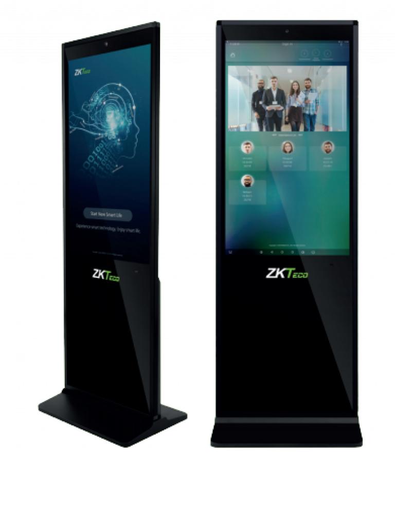 ZKTECO FD1043V - Pantalla publicitaria con control de asistencia facial /  LCD de 43 Pulgadas / Touch / Vídeo / Imágenes / Audio / Rostros 5000 / 4G RAM /  WiFi / #Irresistibles /  #SinContacto / Licencia de Biosecurity incluida
