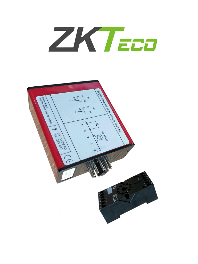 ZKTECO ZF500 - Sensor de Masa para Control de Acceso Vehicular  / 110 VAC /  24V DC, 3A  / Un Canal / Nivel de Sensibilidad Ajustable  / Para Trafico Pesado