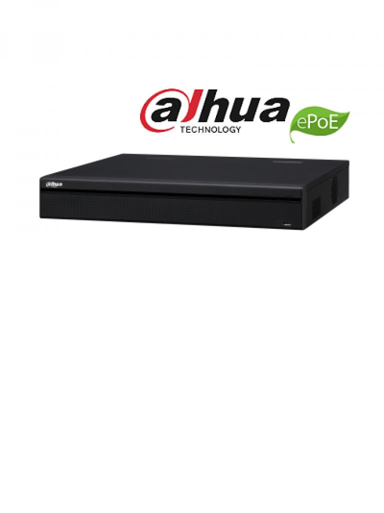 DAHUA NVR5416P4KS2E - NVR 16 Canales 4K / H265+ / Rendimiento 320  Mbps / 8 Puertos con tecnologia E PoE hasta 800M / 16  PoE / 2  HDMI / Pos / 4 SATA / DEWARPING