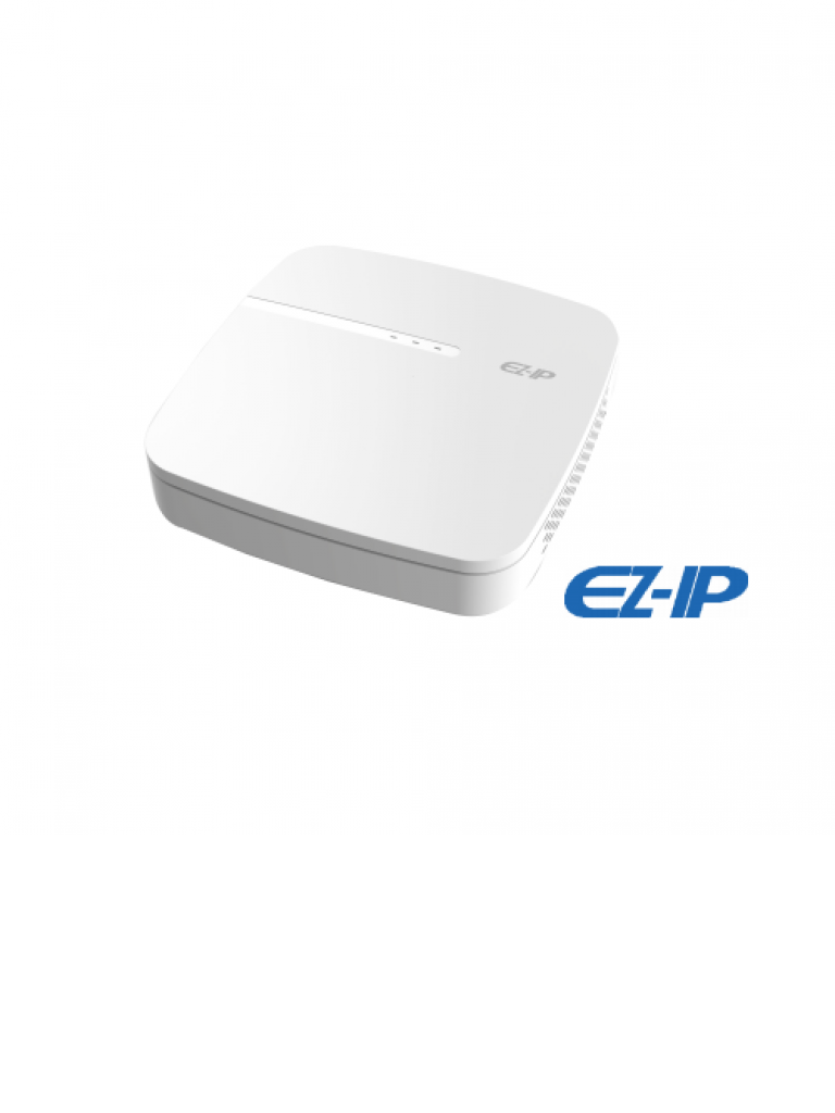 DAHUA EZIP NVR1B04PL - NVR 4 Canales IP / H265 & H264 / 4 Puertos  PoE / Rendimiento 48 Mbps /  HDMI / VGA / Puerto SATA 6TB