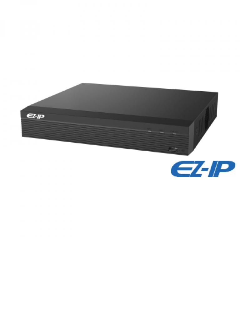 DAHUA EZIP NVR1B04HSP - NVR 4 Canales IP / H265+ & H264+ / 4 Puertos  PoE / Rendimiento 80 Mbps /  HDMI / VGA / Puerto SATA 6TB / PROMOTCD