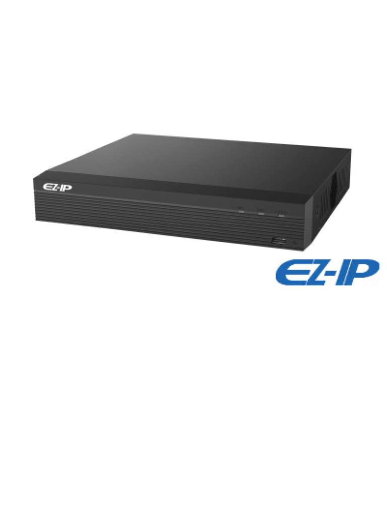 DAHUA EZIP NVR1B08HSP - NVR 8 Canales IP / H265+ & H264+ / 8 Puertos  PoE / Rendimiento 80 Mbps /  HDMI / VGA / Puerto SATA 6TB / PROMOTCD