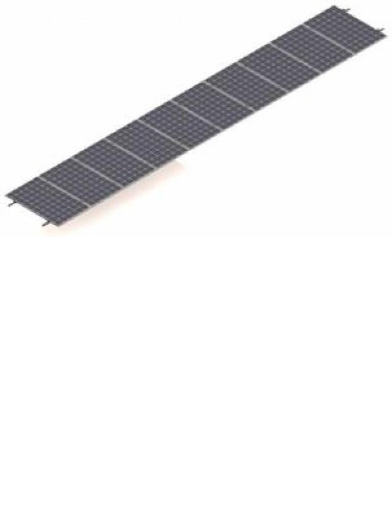 PV SRI1030 - Kit para sistema solar con inclinacion de 15º a 30º en vertical / Para 10 paneles no incluidos