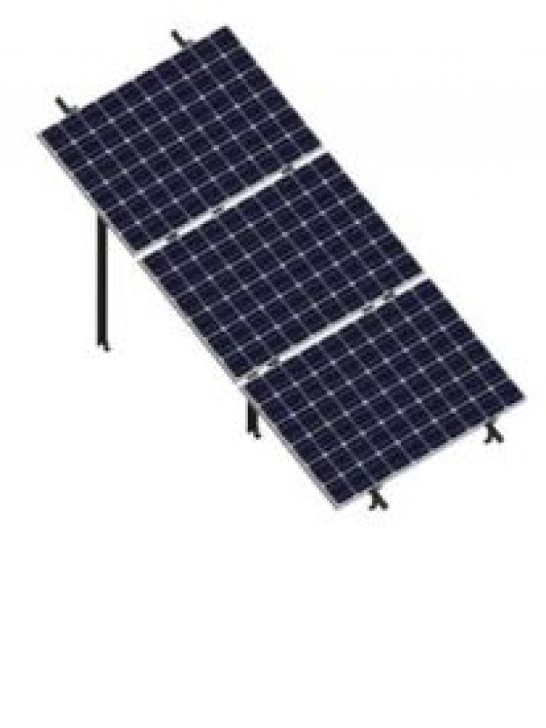 PV SRIH3X130 - Kit para sistema solar de 3 filas inclinado a 30º en horizontal para 60 y 72 celdas / Para 3 paneles no incluidos