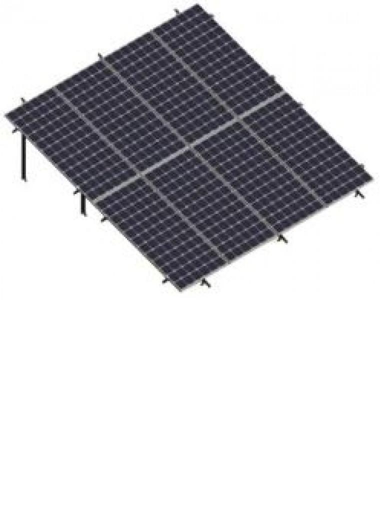 PV SRIV242072 - Kit en dos filas inclinadas en vertical a 20° / Para 8 paneles no incluidos / 72 Celdas