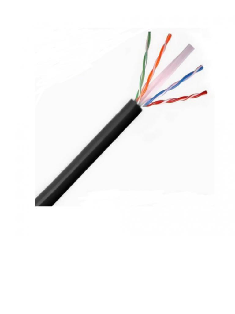 SAXXON OUTP6COP305NE - Cable UTP 100% cobre / Categoria 6 / Color negro / Exterior / 305 M /  AWG 23 / 4 Pares / FLUKE TEST / UL/
