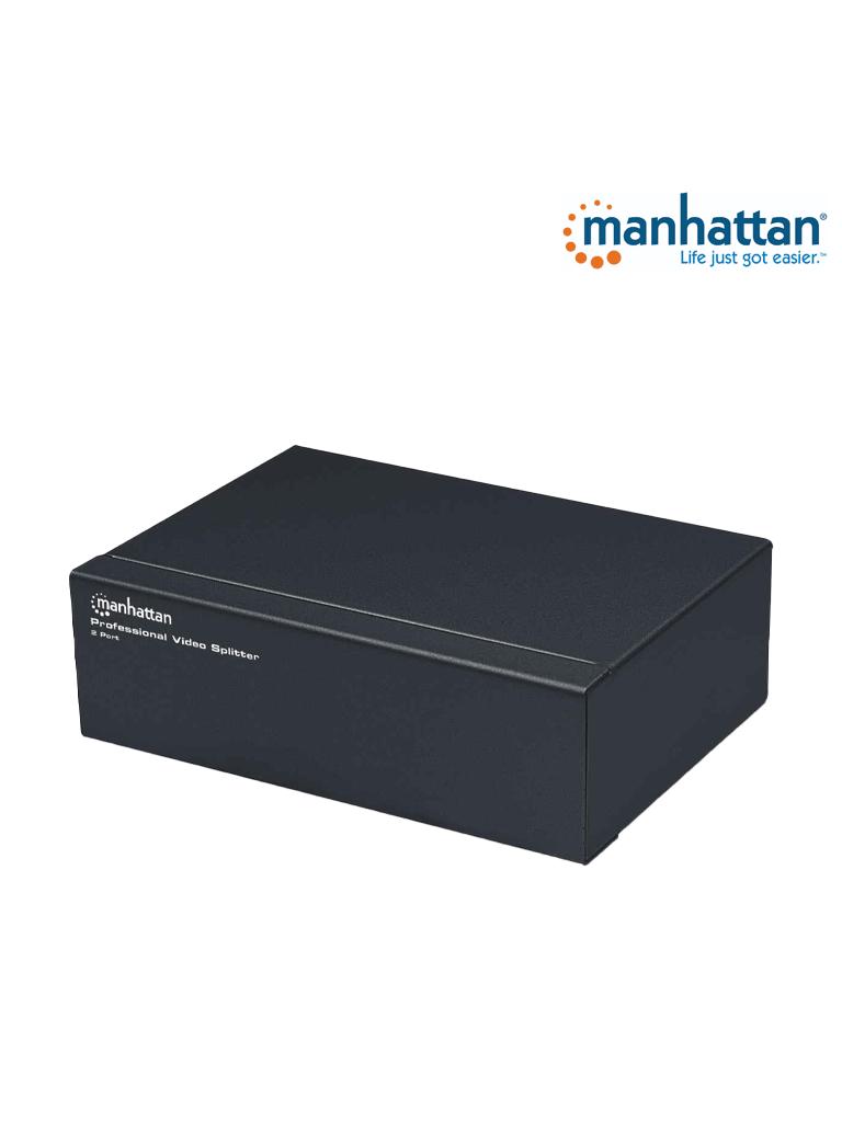 MANHATTAN 207331 - Video Splitter / SVGA / 1 in : 2 out / Alta Resolución