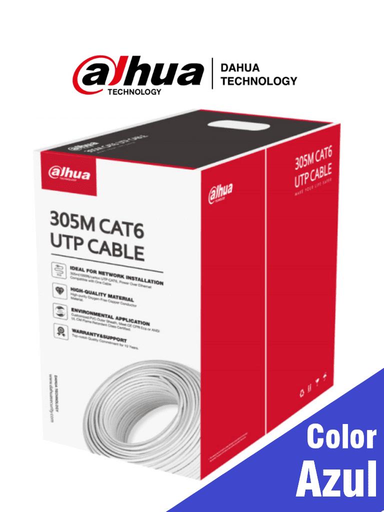 DAHUA PFM923I-6UN-C  - Bobina de Cable UTP Cat6/ 100% Cobre/ Color Azul/ Uso Interior/ 305 Metros/ Recomendado para Redes y Video/ #LoNuevo