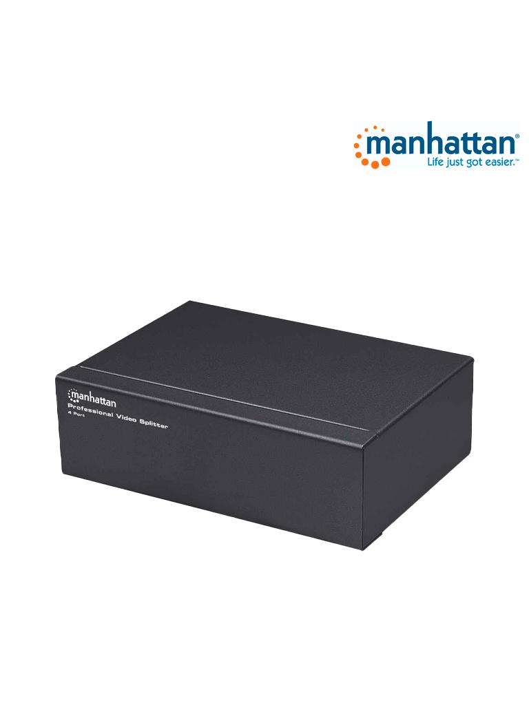MANHATTAN 207348 - Video Splitter / SVGA / 1 in : 4 out / Alta Resolución