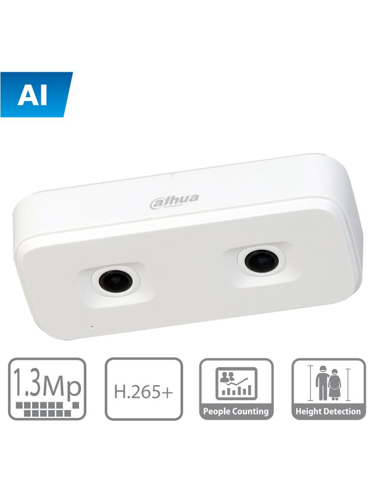 DAHUA HD4140X3D - Camara IP dual para conteo de personas / IA / H.265+ / 1,3 Megapixeles / MICRO SD / IP54 /  PoE