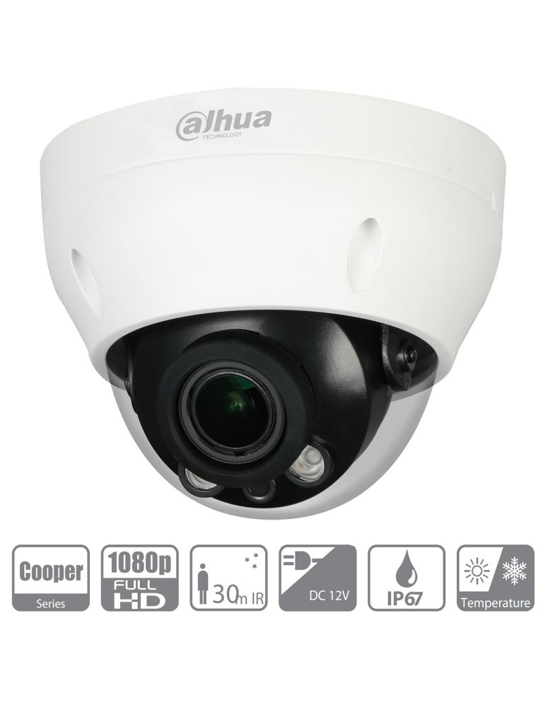 DAHUA COOPER D3A21-VF - Camara Domo 1080p/ Lente Varifocal de 2.7 a 12mm/ IR de 30 Mts/ IP67/ DWDR/ BLC/ HCL