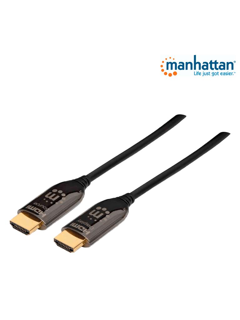 MANHATTAN 355445 - Cable HDMI 2.0 Fibra Optica M-M 50.0M