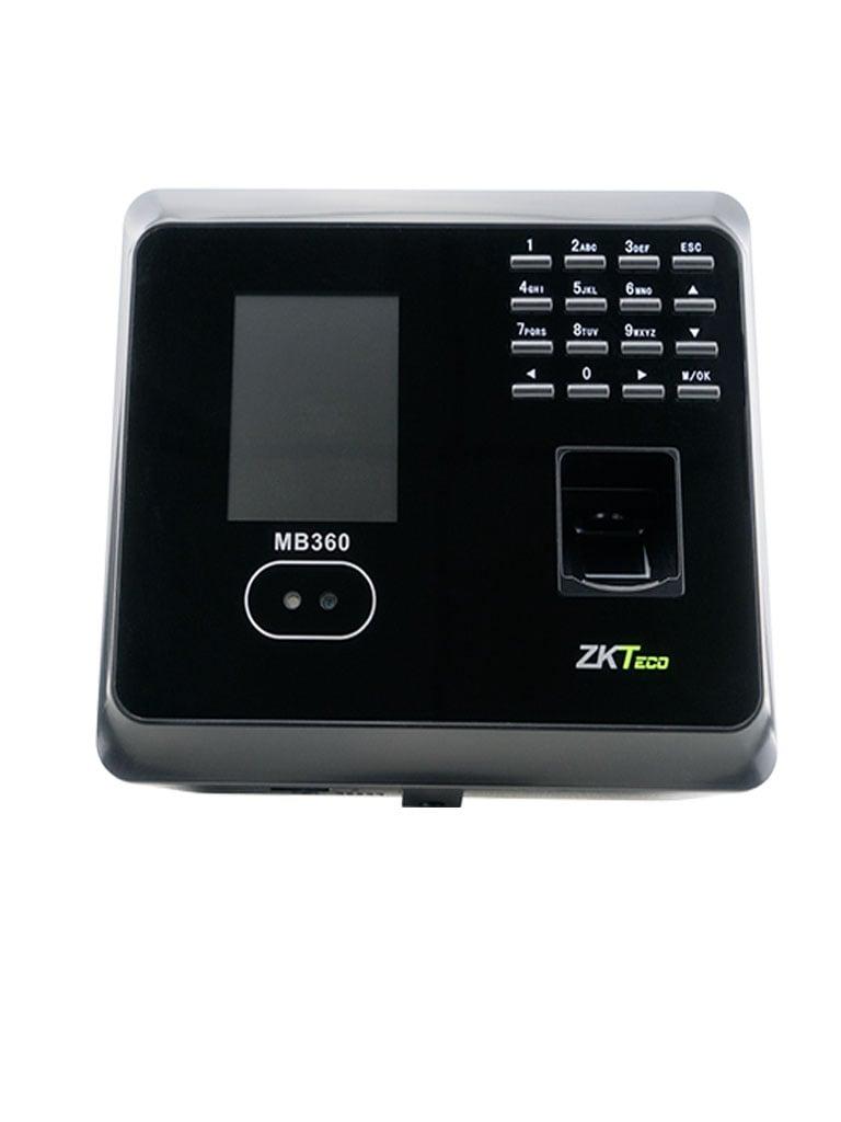 ZK MB360ID - CONTROL DE ACCESO Y ASISTENCIA / 1500 ROSTROS / 2000 HUELLAS / 2000 TARJETAS ID 125 KHZ / 100000 EVENTOS / TCPIP