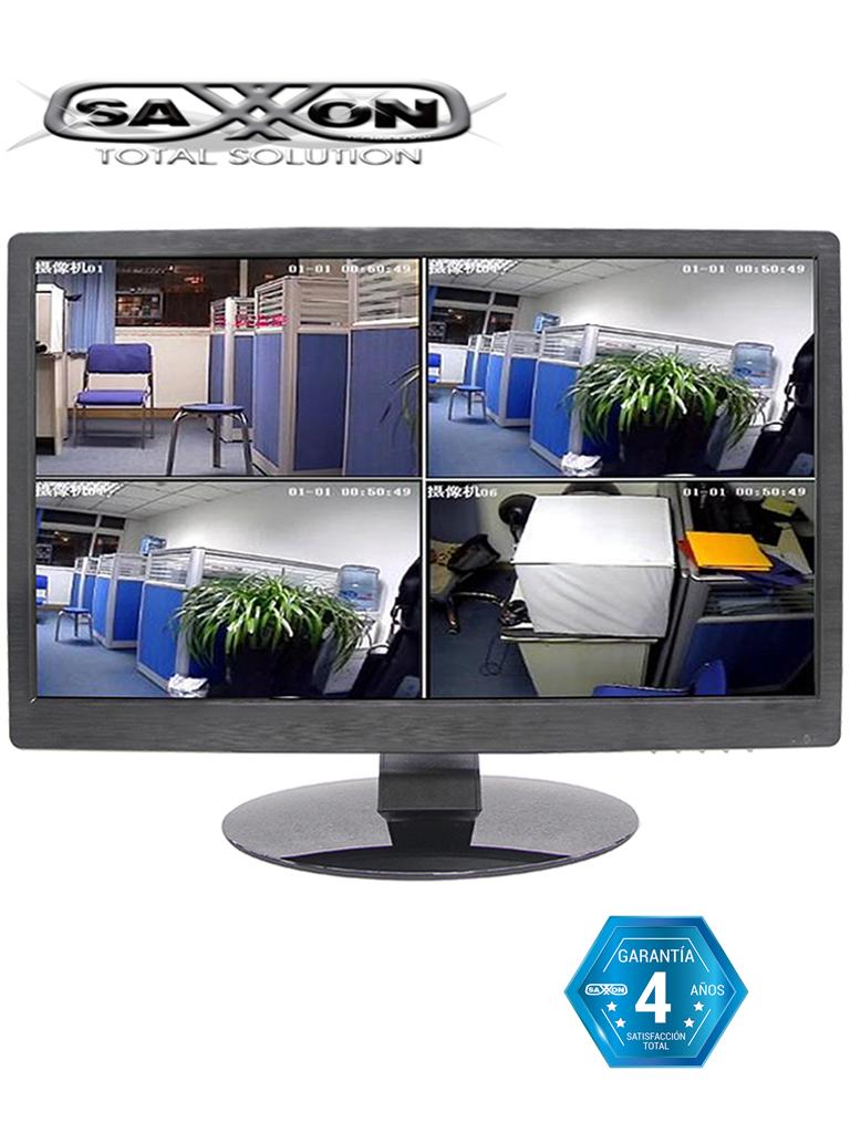 SAXXON AN2200D1 - Monitor de 22 pulgadas para CCTV /  1080p / Brillo 250 CD / M2 / 1  HDMI / 1 VGA / Bocina / Trabajo continuo 24 / 7 Horas / 48 Meses de garantia