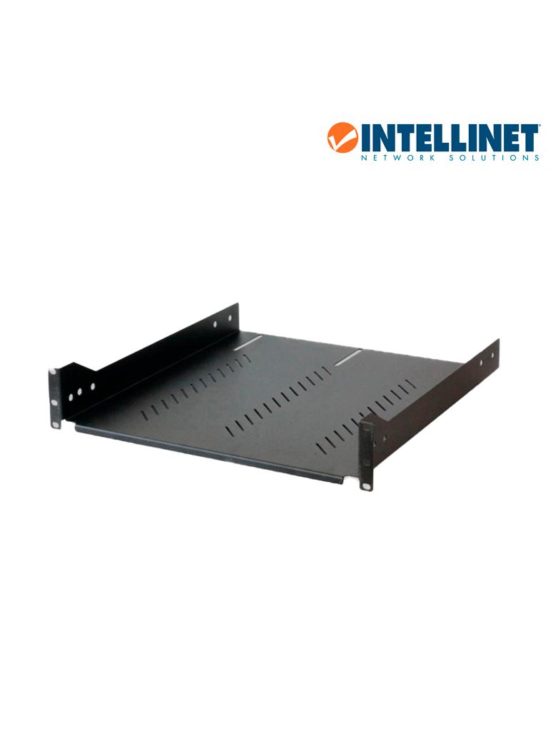 INTELLINET 601290 - Charola Gabinete 19pulg/ 2U/ Ajustable 65-85 cm / Ventilada / 30kg