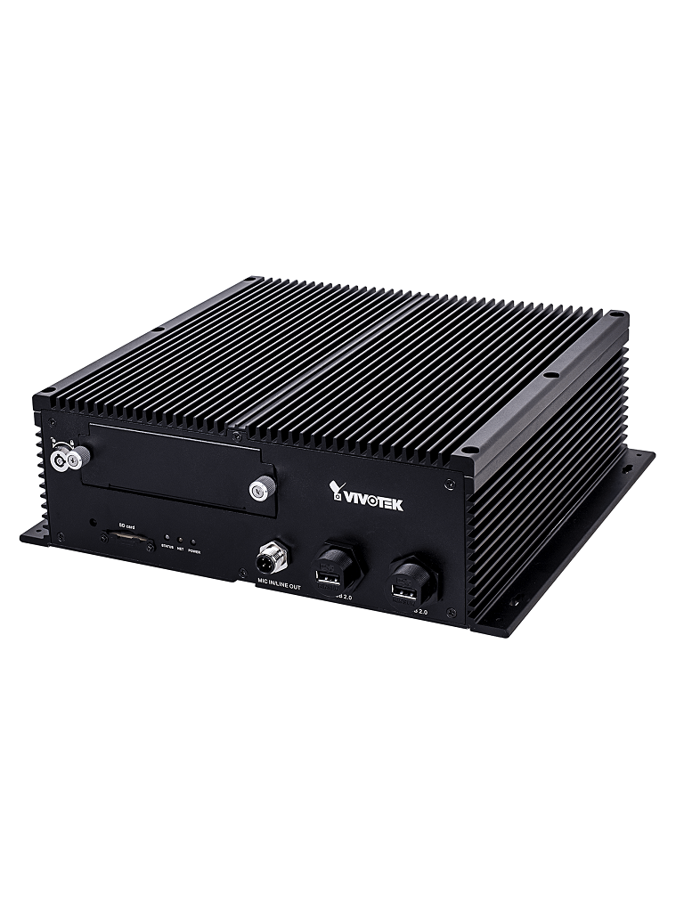 VIVOTEK NV9311PRJ45 - NVR Movil 8 canales / H264 & H265 / 1 Bahia 2.5 / 1 UPLINK RJ45 GB / 8  PoE AF / AT /  WiFi / GPS / 4G /  HDMI & VGA