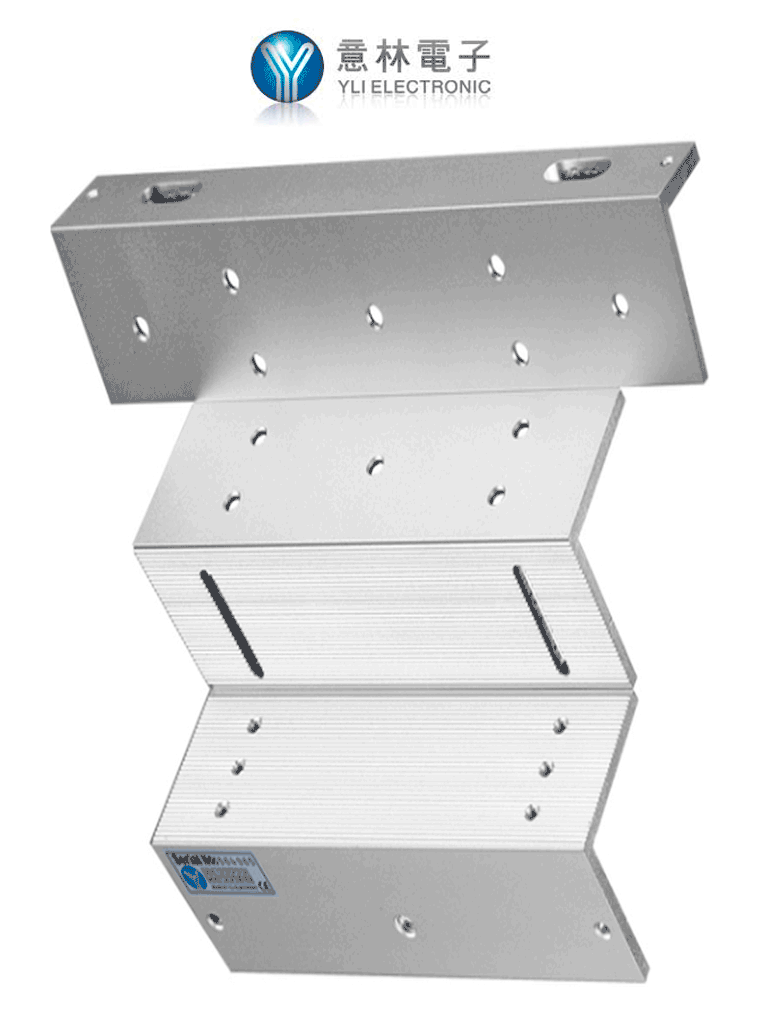 YLI MBK280ZL - Soporte de Electroiman para puerta con Apertura Interior/ 280 Kg/ Tipo ZL/ compatible con YM280, No es compatible con serie N