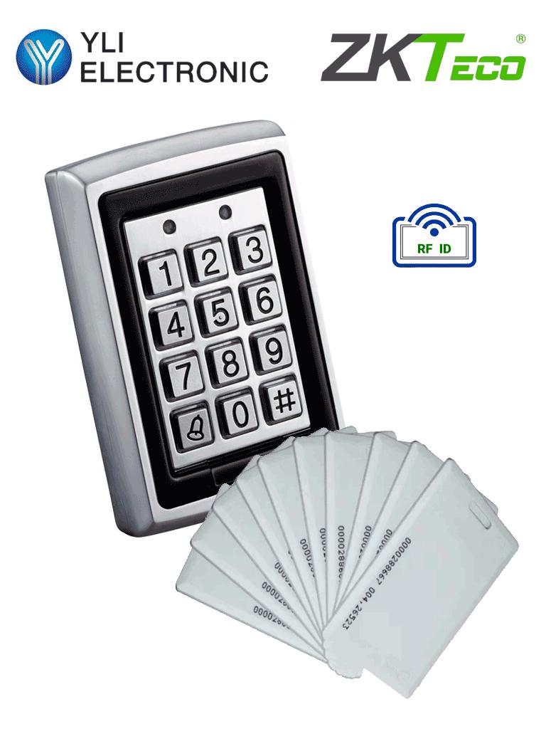 YLI YK568LIDCARDPAK - Teclado para control de acceso / Salidas  NC y NO / Exterior e interior con 20 tarjetas de proximidad incluidas