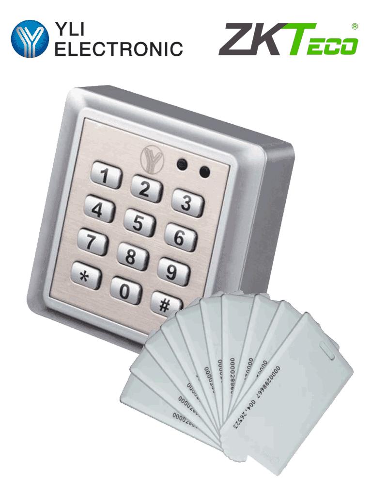 YLI YK668IDCARDPAK - Teclado para control de acceso a prueba de agua con 20 tarjetas incluidas