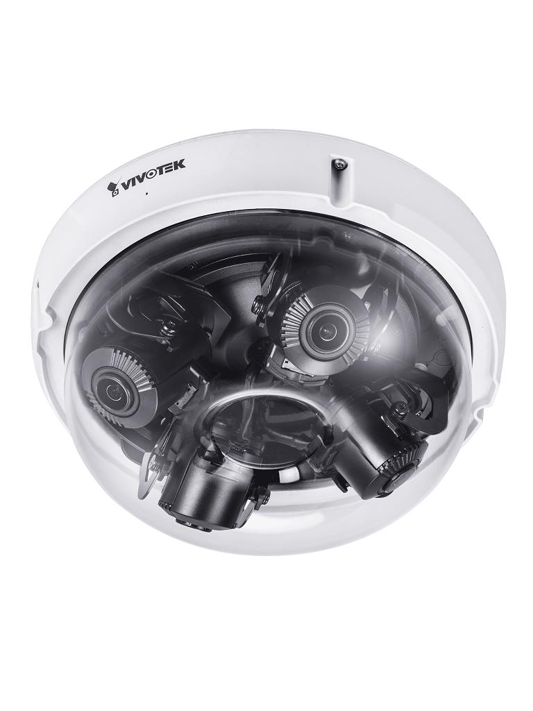 VIVOTEK MA9321EHTV - CAMARA IP DOMO EXTERIOR 20MP/ 4 SENSORES/ MULTI AJUSTABLE/LENTES VARIFOCALES 3.7~7.7mm / ENFOQUE REMOTO/SNV/IK10/CLIMAS EXTREMOS/ AUDIO/ RANURA MICRO SD
