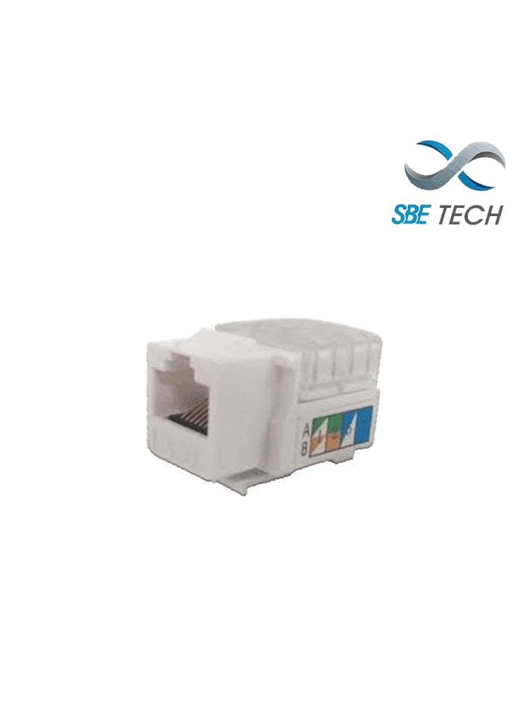 SBETECH JACKC6WT- Modulo jack keystone RJ45 / 8 Hilos / CAT 6/ Compatible con calibres AWG 22-26 / Color blanco