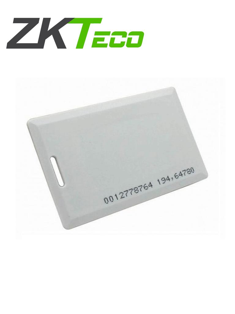 ZKTECO IDCARDKR2K - Paquete con 10 tarjetas compatibles con lectores RFID con frecuencia de 125 Khz / Tarjeta perforada de 1.88 mm de Grosor tipo clamshell para mayor alcance y  mas resistente/ Folio impreso/ Modelo A16060037 / #TerrorZK