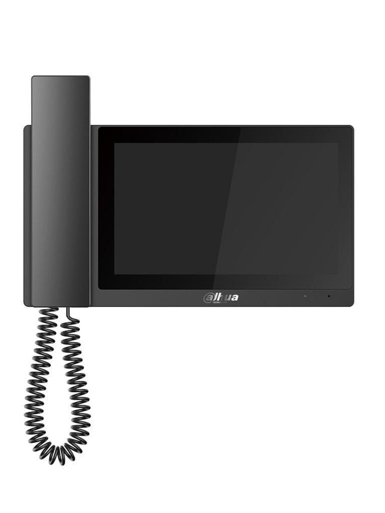 DAHUA VTH5221EWH - MONITOR IP TOUCH DE 7 PULGADAS CON AURICULAR/ 12VDC O POE 802.3 AF/ SOPORTA SD DE HASTA 32 GB