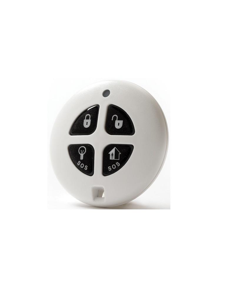 RISCO EL2714- Control remoto inalámbrico compatible con Secuplace / 4 botones / tipo llavero / armar / desarmar / 433mhz