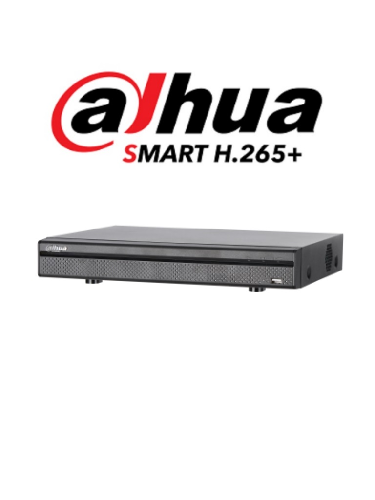 DAHUA XVR5116H4KLX - DVR 16 Canales  HDCVI pentahibrido 4 MP / 4K /  1080p / H265+ / 8 Ch IP adicionales 16+8 / 1 SATA Hasta 10TB / Smart audio / P2P/ #NuevoPrecio