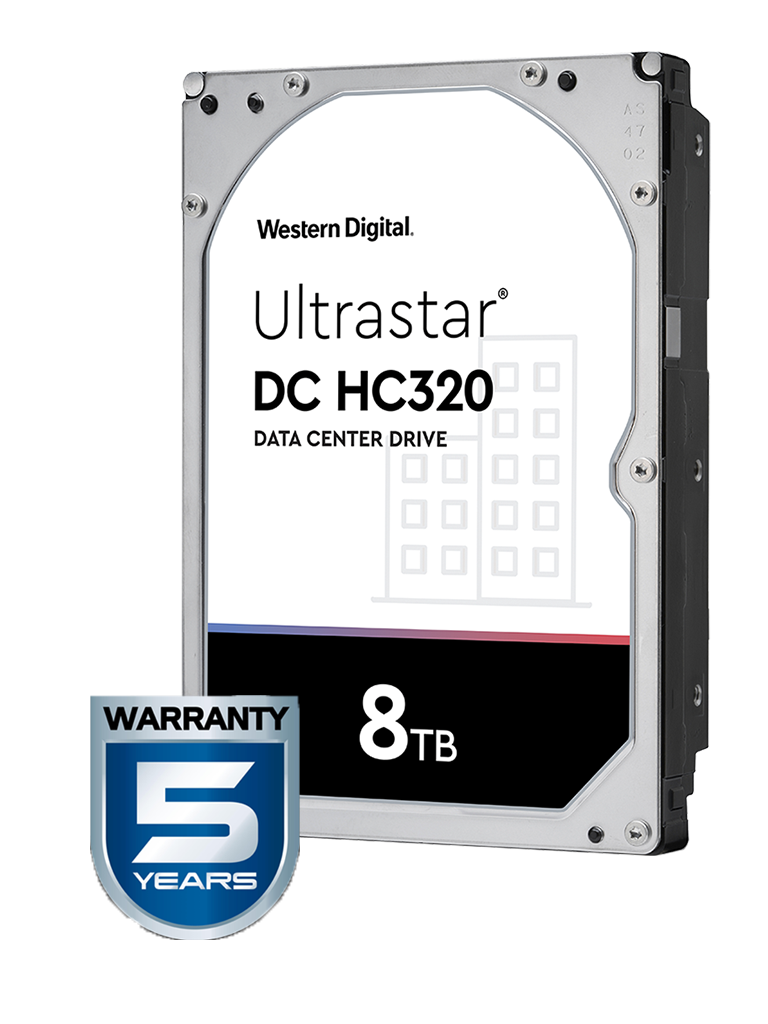 WESTERN HUS728T8TALE6L4 - Disco duro de 8 TB / Serie ULTRASTAR / Recomendado para servidores / Videovigilancia / Sin limite de bahias / 7200RPM / SATA 3 / 6GBS / 256MB