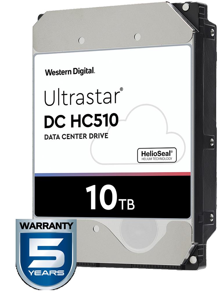WESTERN HUH721010ALE604 - Disco duro de 10 TB / Serie ULTRASTAR / Recomendado para servidores / Videovigilancia / Sin limite de bahias / 7200RPM / SATA 3 / 6GBS / 256MB