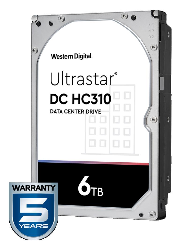 WESTERN HUS726T6TALE6L4 - Disco duro de 6 TB / Serie ULTRASTAR / Recomendado para servidores / Videovigilancia / Sin limite de bahias / 7200RPM / SATA 3 / 6GBS / 256MB