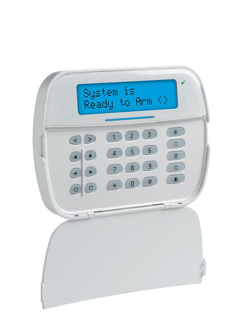 DSC HS2LCDRF9N - Teclado Cableado LCD Alfanumérico con Transceptor integrado de 32 caracteres admite 128 zonas compatible con NEO