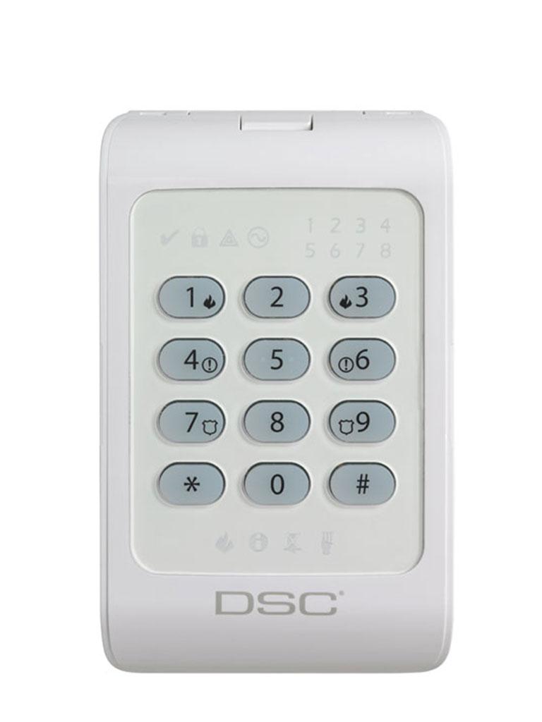 DSC PC1404RKZWH - Teclado Cableado de LED admite 8 zonas compatible con panel Power Series