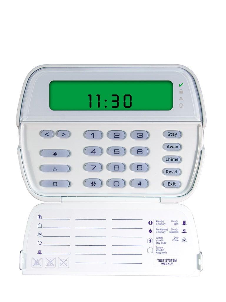 DSC RFK5501 - Teclado Cableado de Iconos con receptor integrado admite 64 zonas de las cuales 32 pueden ser inalambricas compatible con Power Series