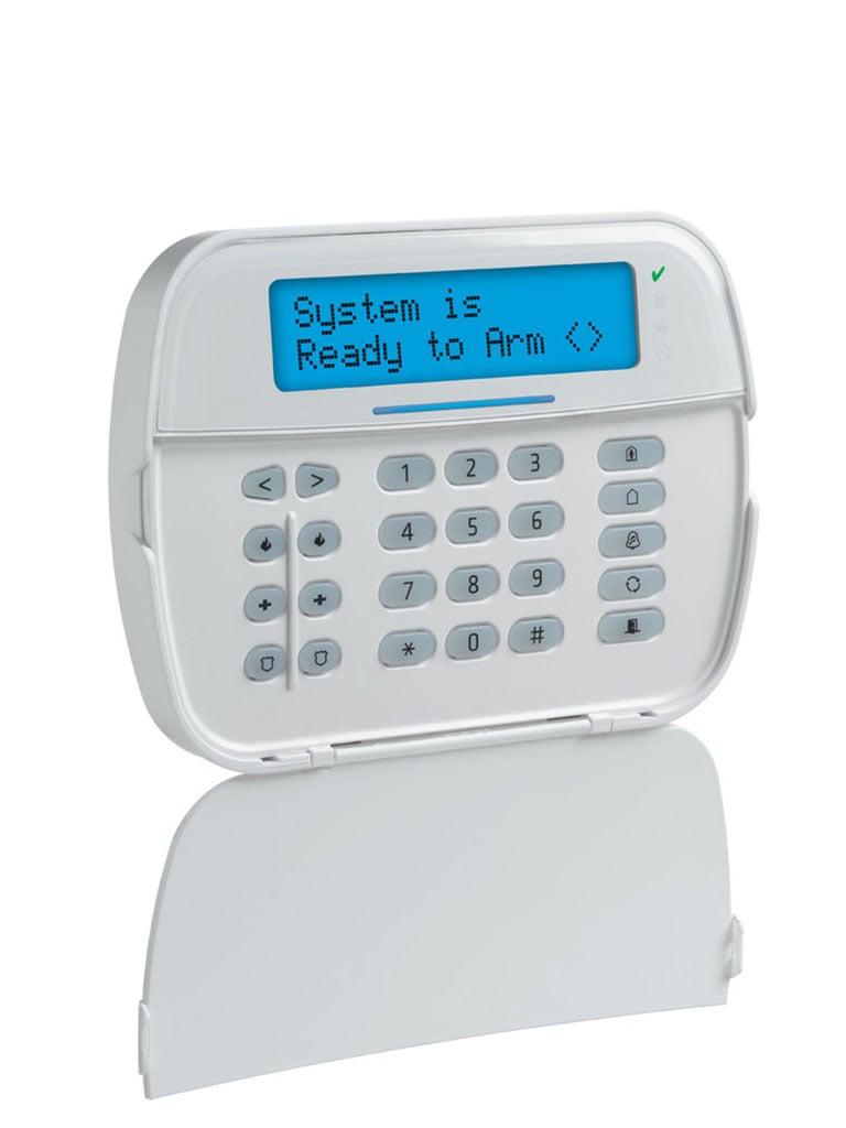 DSC HS2LCDWFP9 - Teclado Programador  LCD Alfanumérico  Inalambrico  Power G  con credencial de proximidad compatible con NEO