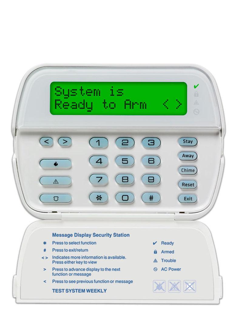 DSC PK5500L1 - Teclado Cableado LCD Alfanumérico 32 caracteres admite 64 zonas compatible con panel Power Series
