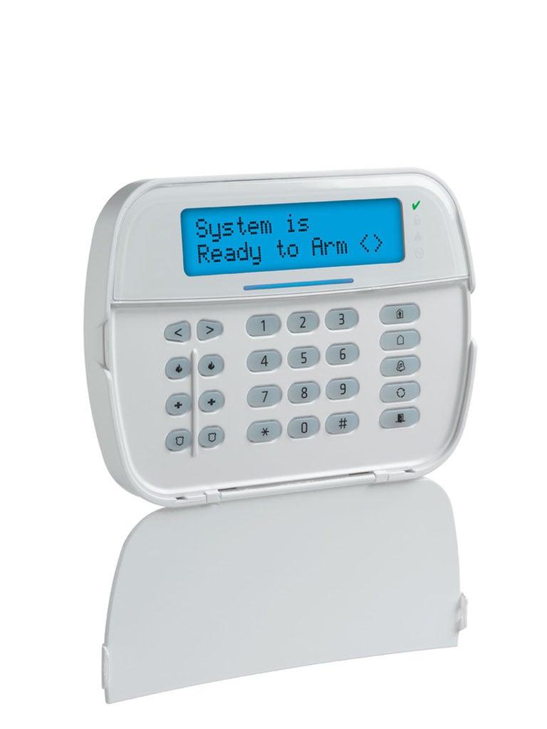 DSC HS2LCDPN - Teclado Cableado LCD Alfanumérico con Lector de Proximidad de 32 caracteres admite 128 zonas compatible con NEO