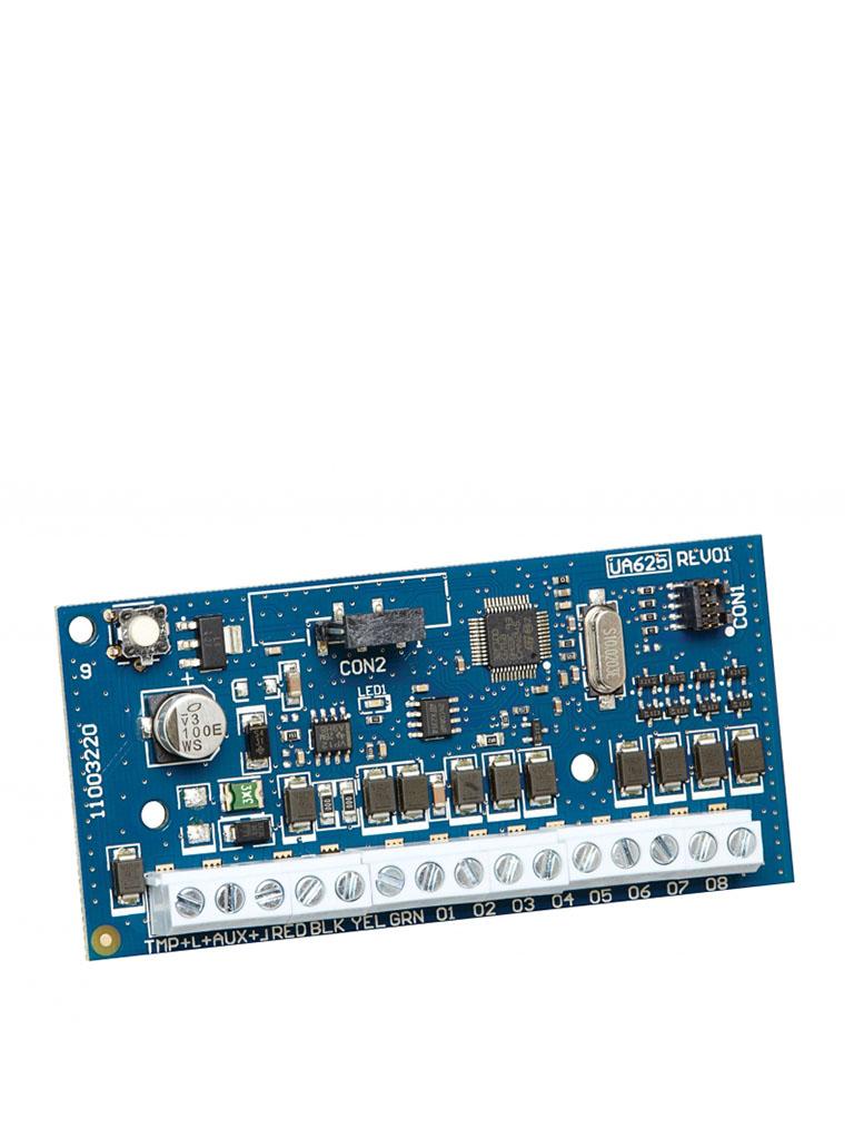 DSC HSM2208 - Módulo Expansor de 8 Salidas Programables de baja corriente compatible con panel NEO, PRO