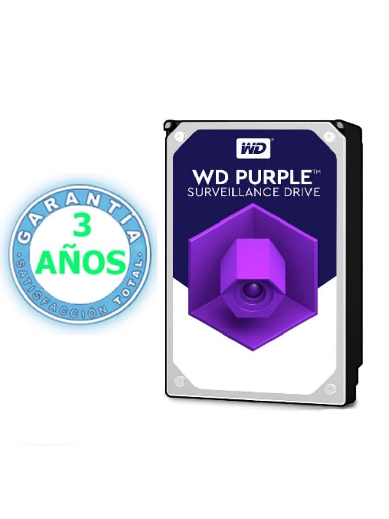 WESTERN WD101PURZ - Disco duro 10 TB / Serie PURPLE / 7200 RPM / 256MB / SATA 6 GBS / Recomendado para videovigilancia / Tamano de 3.5 / Hasta 16 bahias