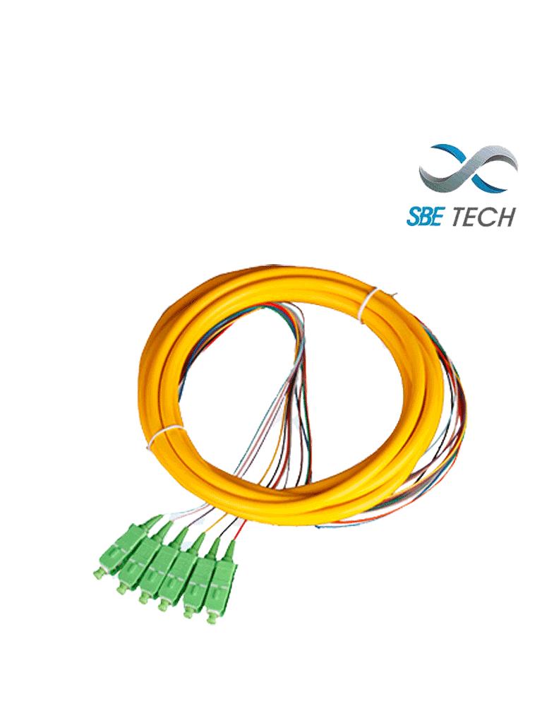 SBETECH SBE-PIGSCAPC2MSM12P - Pigtail SC/APC monomodo 9/125 simplex 2mts  Paq 12