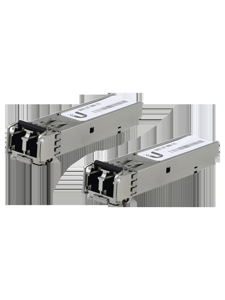 UBIQUITI UFMM1G- Modulo para Fibra Optica SFP Multimodo / 1 Gigabit / Conector Tipo LC / Compatible con Switches UniFi y EdgeMax