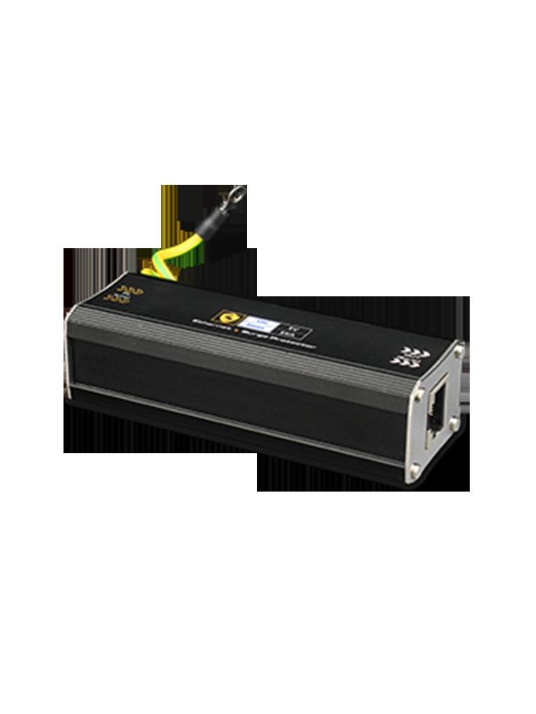 UTEPO USP201GEPOE - Protector de sobrecargas  PoE / 1 PTO GE / Ideal para camaras IP  PoE / AF / AT / Hasta 60V / Datos y energia