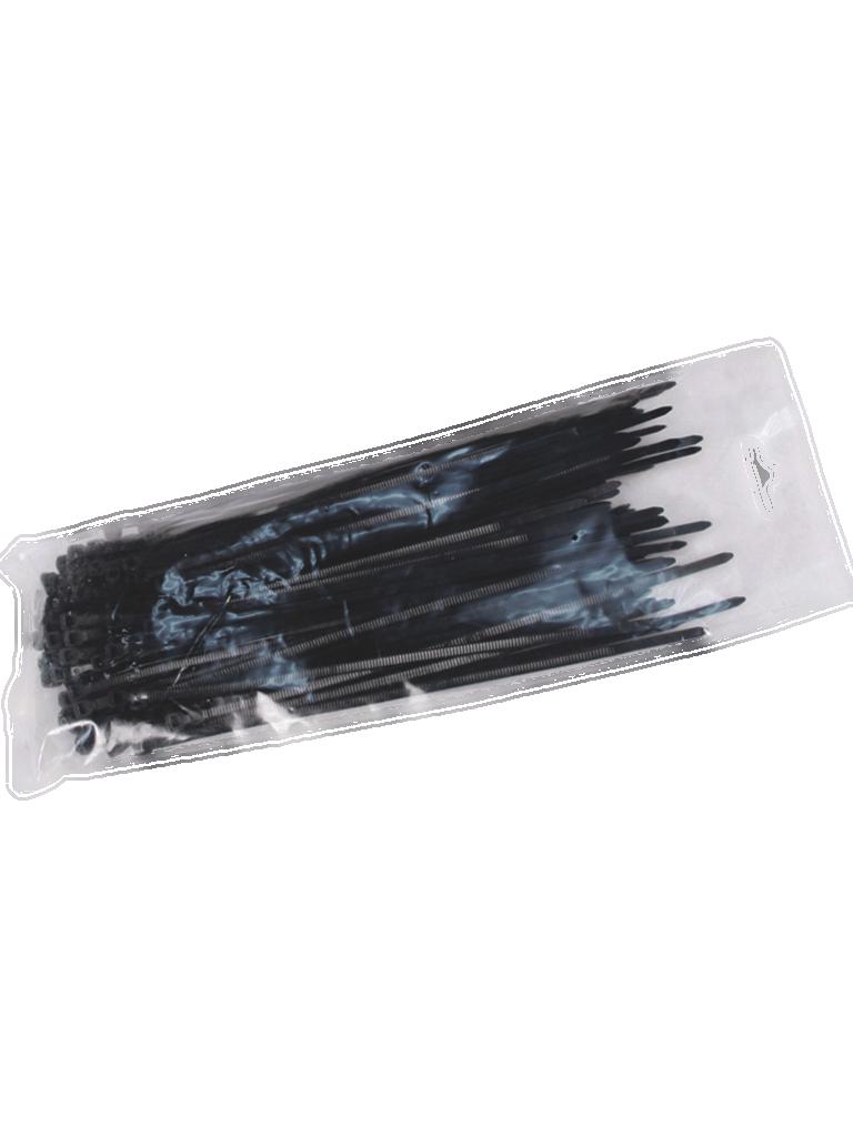 SAXXON CN48X450BK - Cincho sujetacable / 4.8  mm X 450  mm / Negro / Bolsa con 100 piezas / Nylon