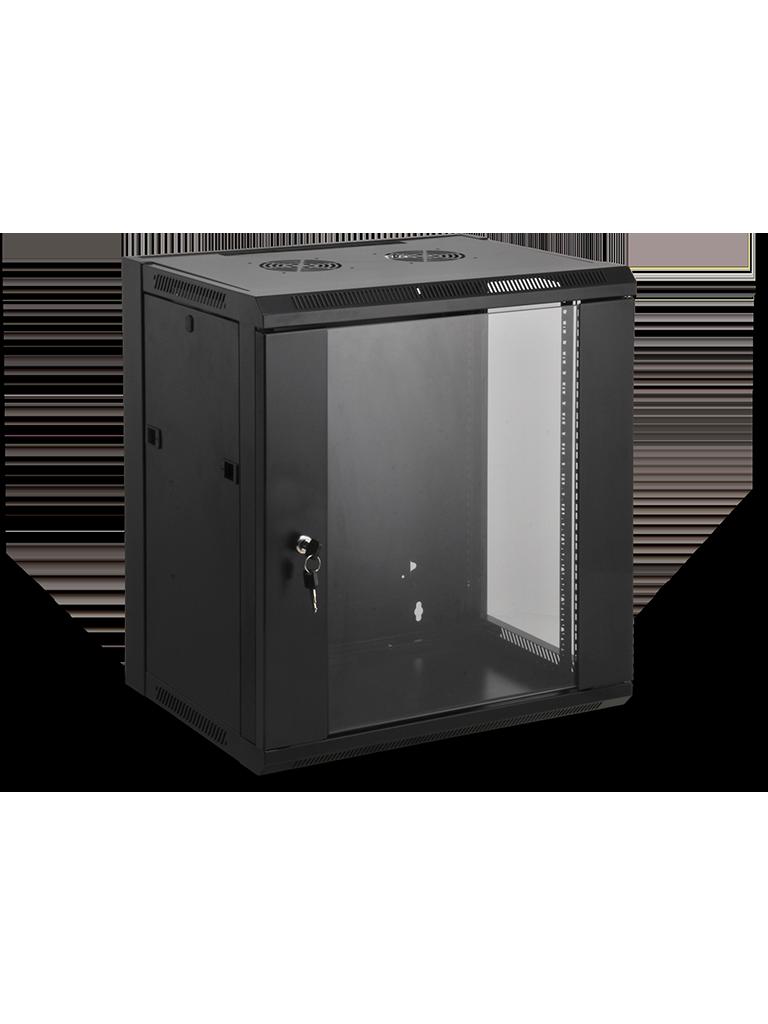 SAXXON SE540601 - Gabinete de pared / 6 UR / Fijo / Capacidad de carga de 60  Kg / Ancho 570 mm x profundidad 450 mm x alto 370 mm