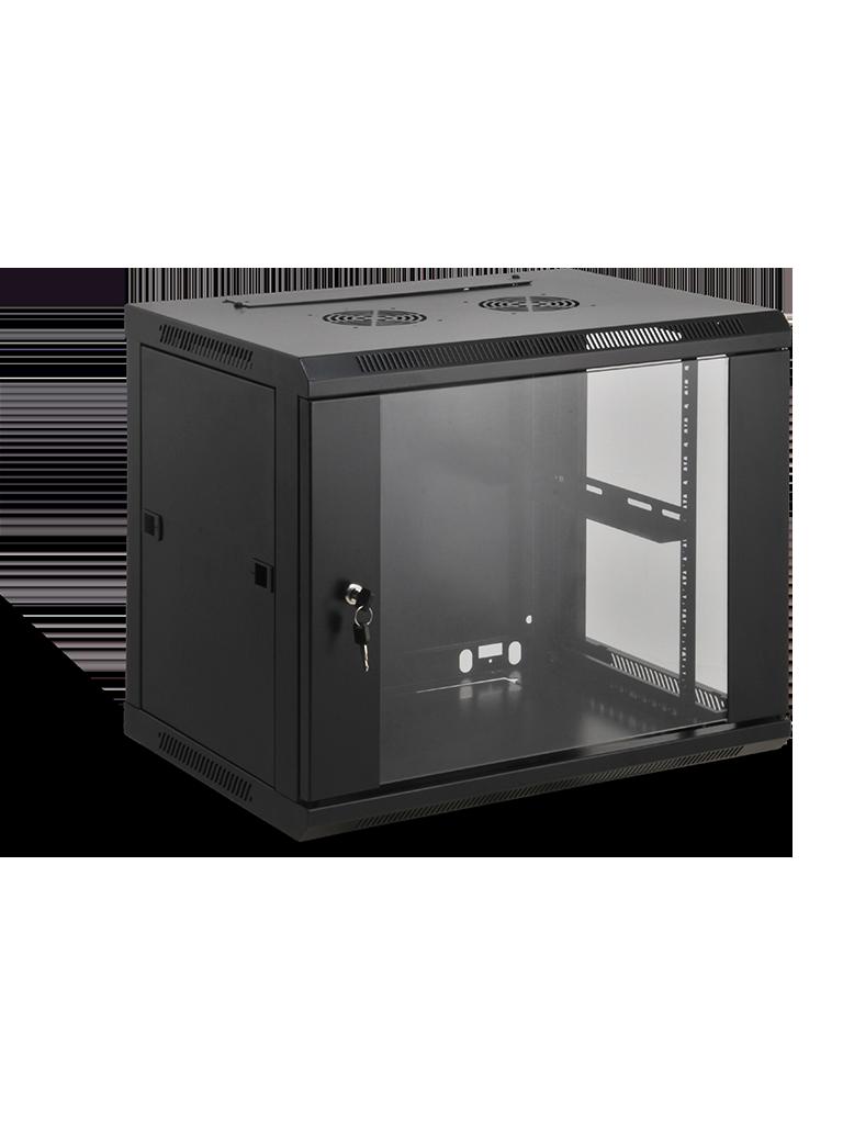 SAXXON SA640901 - Gabinete de pared / 9 UR / Fijo / Capacidad de carga de 60  Kg / Ancho 600 mm x profundidad 450 mm x alto 500 mm