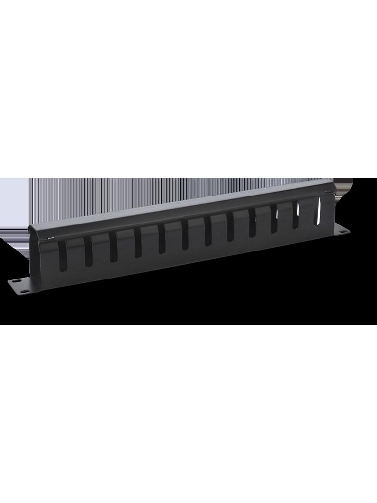SAXXON J6062 - Organizador de cable horizontal para rack / Un lado / Cubierta de metal / 1U