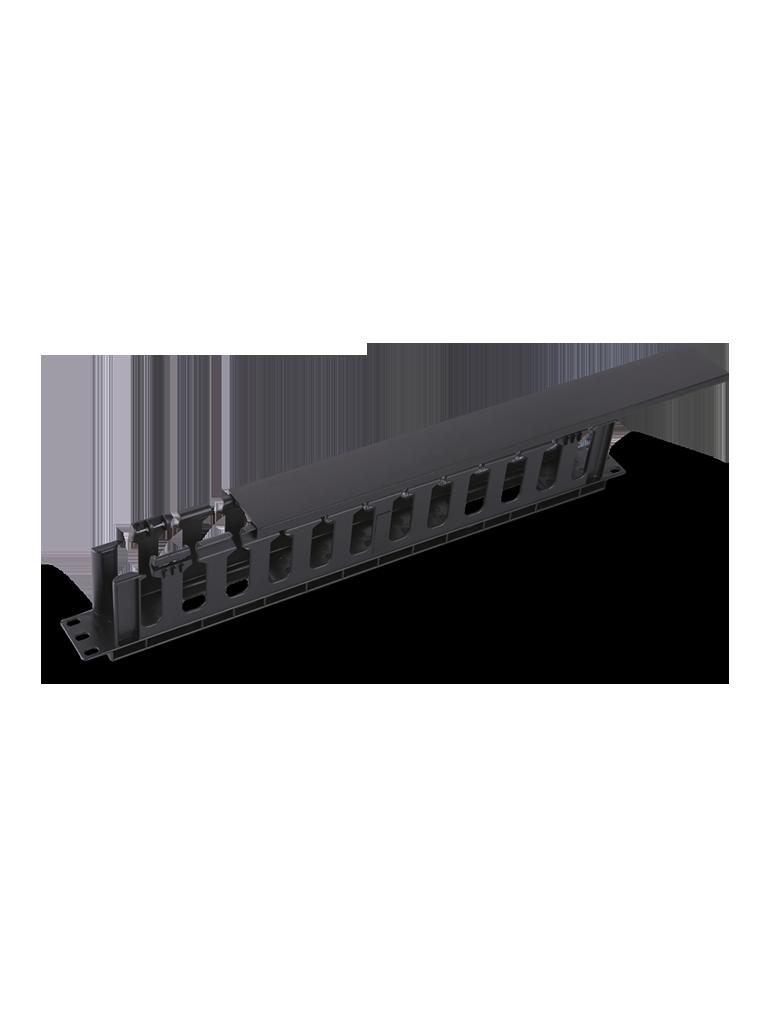 SAXXON J6068 - Organizador de cable horizontal para rack / Un lado / Plastico / 1U
