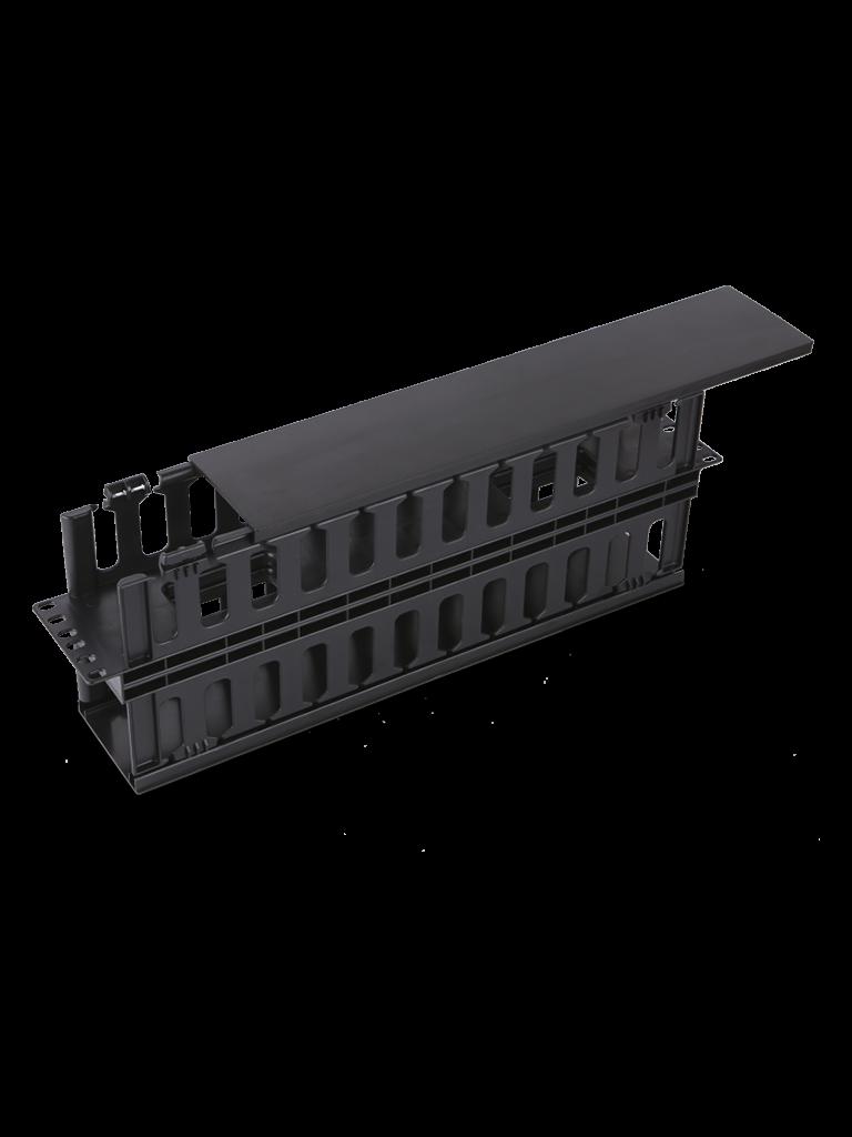 SAXXON J60610 - Organizador de cable horizontal para rack / Doble lado / Plastico / 2U